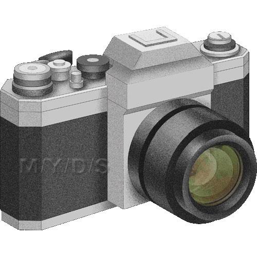 一眼レフカメラのイラスト 条件付フリー素材集