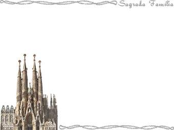 サグラダ ファミリア バルセロナ のイラスト 条件付フリー素材集