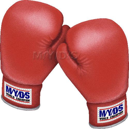ボクシンググローブ(赤)のイラスト/条件付フリー... / リング ボクシンググローブ(赤)のイ